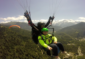 Well done Siloe for your English and your paragliding!